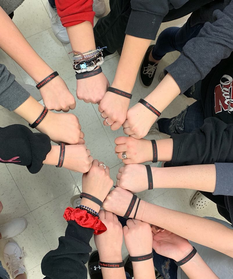 oklahoma red cord human trafficking awareness
